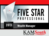 2013 Five Star Professional Wealth Managers Award
