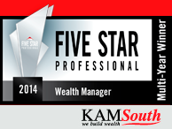 2014 Five Star Professional Wealth Managers Award