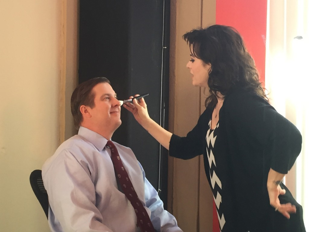 Christian Koch on the set of Brian Tracy TV Show