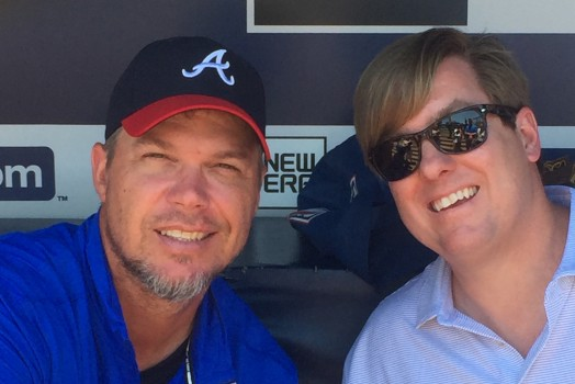KAM South's Christian Koch with MLB Great Chipper Jones