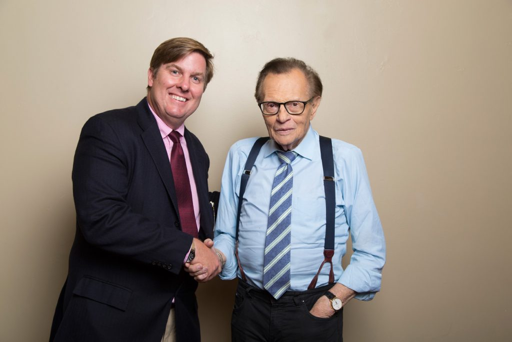 Christian Koch with Larry King in Hollywood